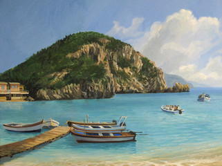 The Boats of Paleokastritsa