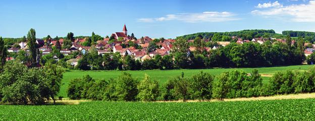 Village de Zimmersheim, Alsace , Haut-rhin .
