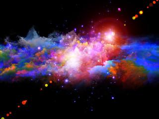 Vivid fractal foam