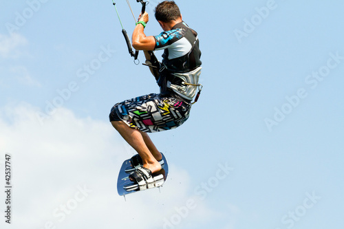 kitesurfer in the sky