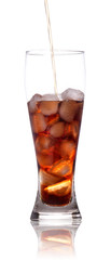 fresh Cola with ice cubes