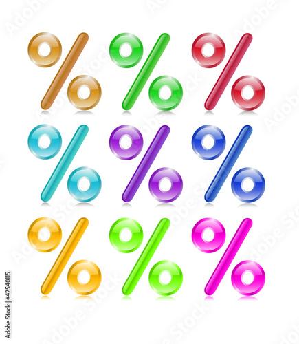 Plaquette de pourcentages