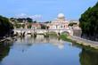 Rom Tiberbrücke - Blick zum Petersdom und Vatikan