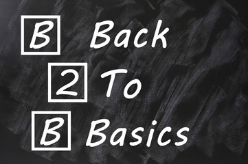 Acronym of B2B for Back to basics