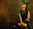 Blond girl in a bunker