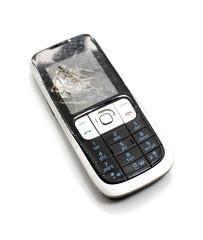 téléphone portable endommagé