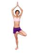 Practicing Yoga. Beautiful woman