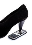 talon de chaussure stress téléphone portable poster