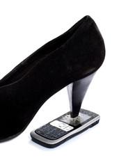 talon de chaussure stress téléphone portable