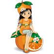 Bambina arancia-Orange girl