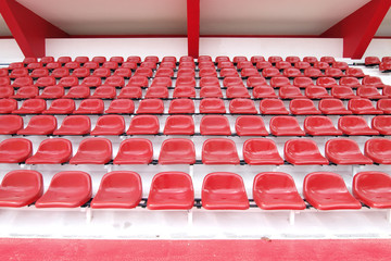 Red seat at Thep Hasadin Stadium in Thailand