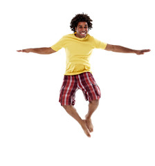 Joyful young man, jumping 4
