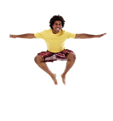 Joyful young man, jumping 5