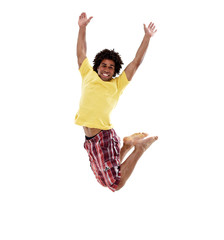 Joyful young man, jumping 7
