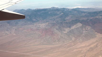 Flying (5X) above mountains and desert near Las vegas