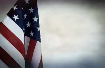 US flag backdrop
