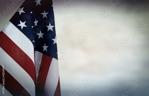US flag backdrop