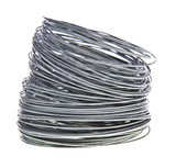 Coil of galvanized wires on white background poster