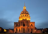Les Invalides at night - Paris, France
