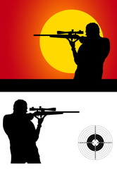 silhouette sport shooters