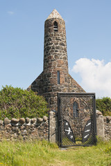 Building, church, St Columbas, Canna, Inner Hebrides, Scotland