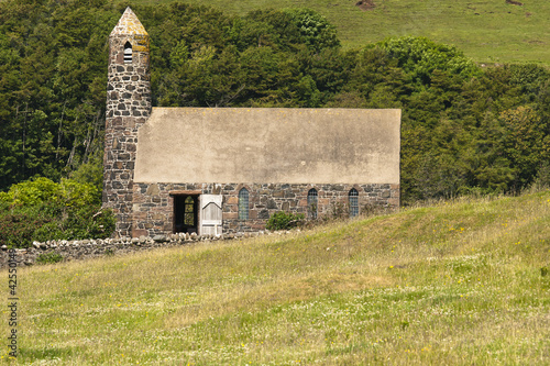 Building, church, St Columbas, Canna, Inner Hebrides, Scotland