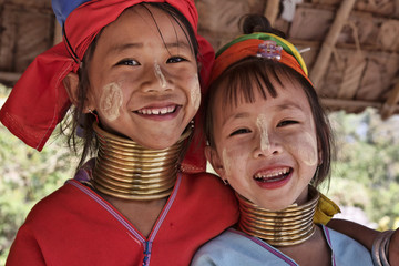 Thailand, Chiang Mai, Karen Long Neck hill tribe village