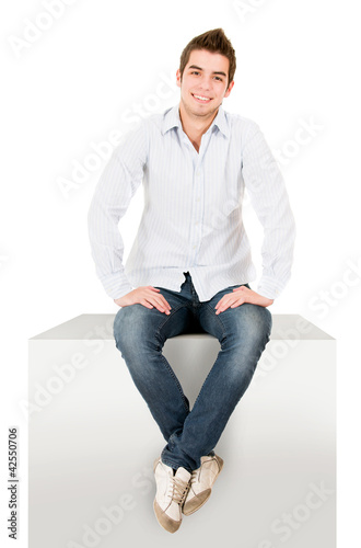 Casual man sitting