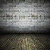 Fototapety brick wall floor