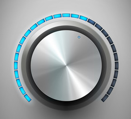 Volume knob. Vector illustration