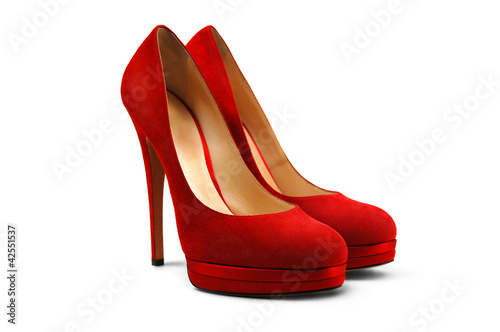 Red female shoes-4