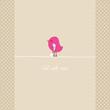 Pink Bird Crutch & Leg In Plaster Beige