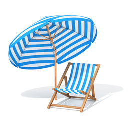 Sunbed and sun umbrella