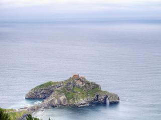 Costa de vizcaya, ermita de Gaztelugatxe, España