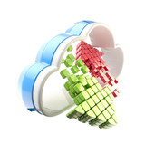 Cloud computing technology icon emblem