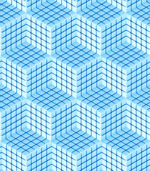 Seamless hexagon cube background texture