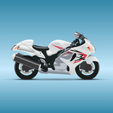 Vector motorcycle on blue background