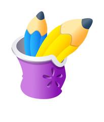 Vector icon pencil