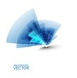 abstract new blue shiny swirl technology wave composition vector