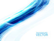 abstract blue shiny wave technology vector