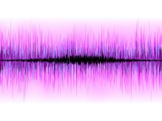 Sound waves oscillating on white background. EPS 8