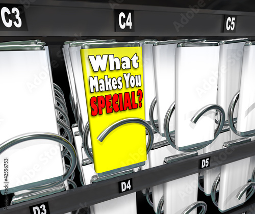 What Makes You Special One Unique Choice Vending Machine