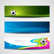 Banner headers soccer ball design background, vector