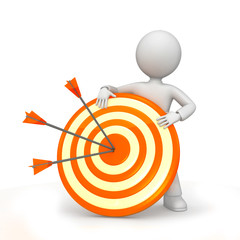 ARROWS ON TARGET WITH FIGURE