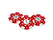casino chips with win symbol