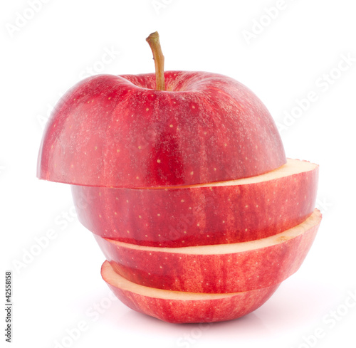 Apple red sliced