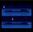 paysage urbain nocturne