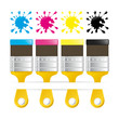 CMYK BRUSH BLOT