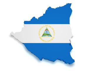 Nicaragua Map 3d Shape