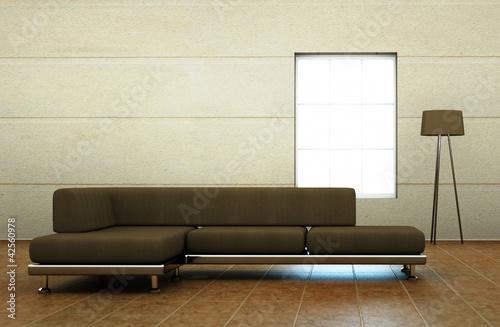 braunes sofa von virtua73 lizenzfreies foto 42560978 auf. Black Bedroom Furniture Sets. Home Design Ideas
